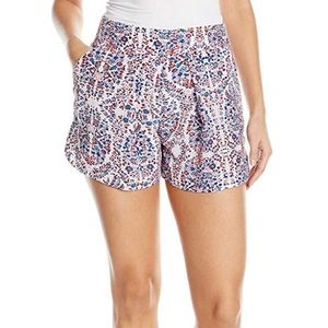 Rebecca Taylor Silk Floral Paisley Pleated Shorts